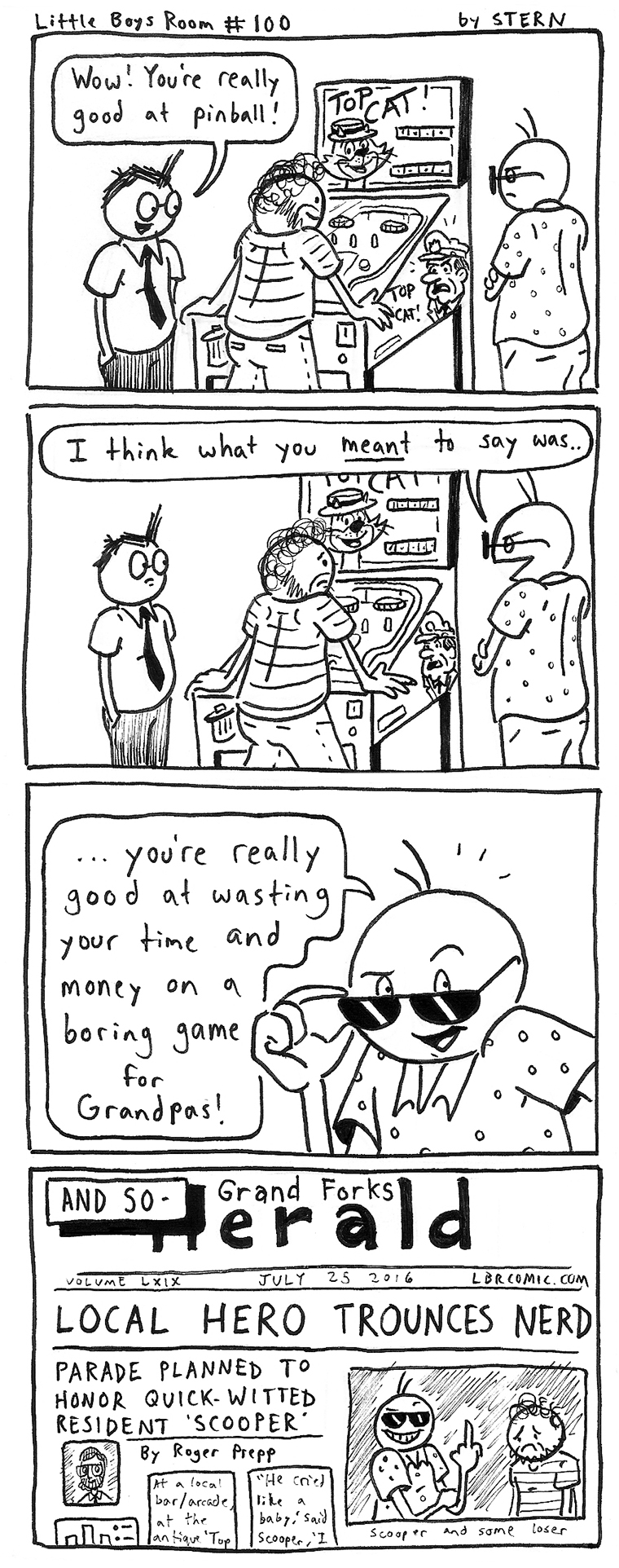 Why don't you do something more constructive, like draw webcomics?